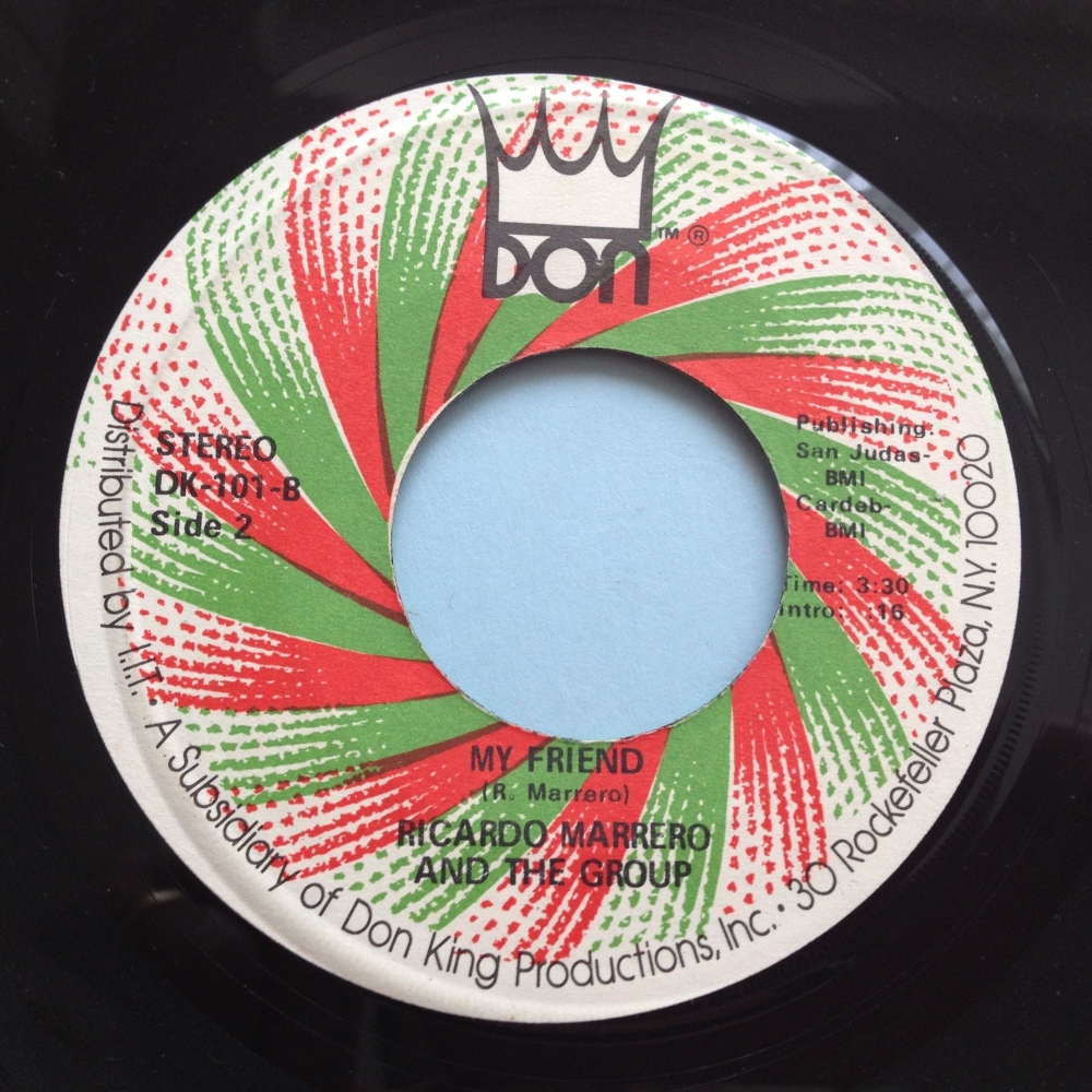 Ricardo Marrero & The Group - My Friend / Babalonia - Don - Ex (label offcentre of 'My Friend' side)