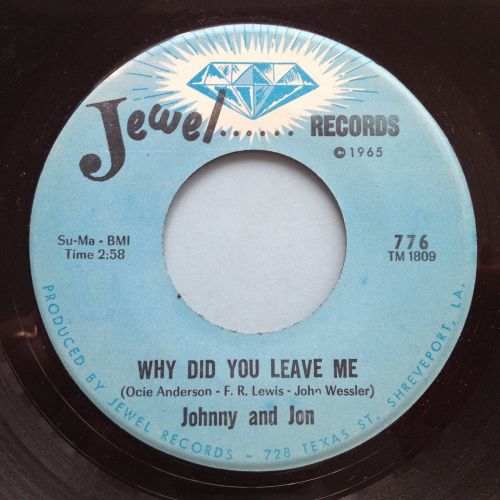 Johnny and Jon - Why did you leave me - Jewel - Ex