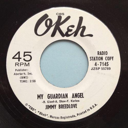 Jimmy Breedlove - My guardian angel - Okeh Promo - Ex