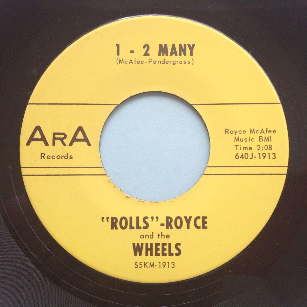 Rolls Royce and the Wheels - 1-2 Many - ArA - Ex