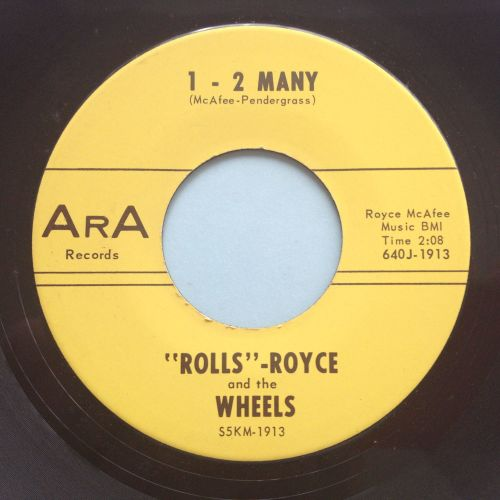 Rolls Royce and the Wheels - 1-2 Many - ArA - Ex