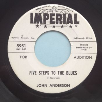 John Anderson - Five steps to the blues - Imperial promo - M-