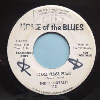 5 Royales - I got to know b/w Please, please, please - Home Of The Blues promo - Ex (wol - label wear)