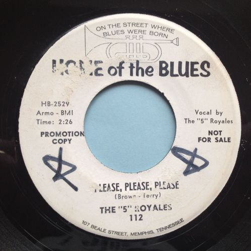 5 Royales - Please, please, please - Home Of The Blues promo - Ex (wol)