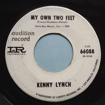 Kenny Lynch - My own two feet - Imperial promo - Ex-