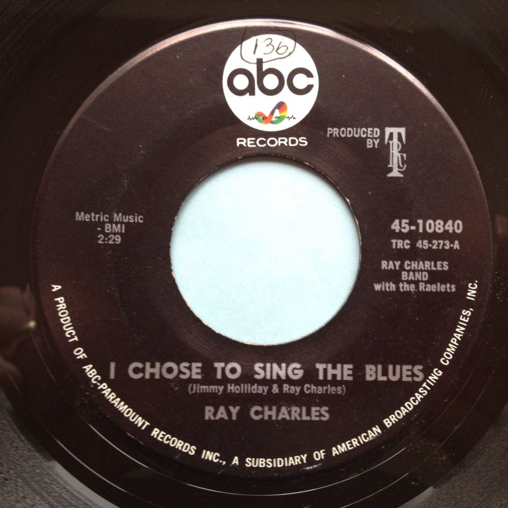 Ray Charles - I chose to sing the blues - ABC - Ex