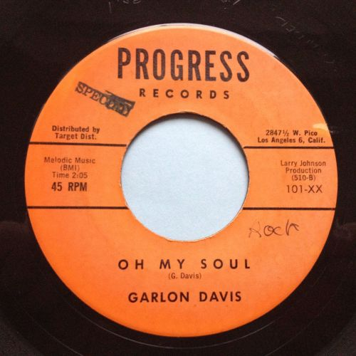 Garlon Davis - Oh my soul - Progress - Ex