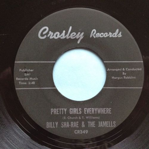 Billy Sha-Rae & The Jamells - Pretty Girls Everywhere - Crosley - Ex-