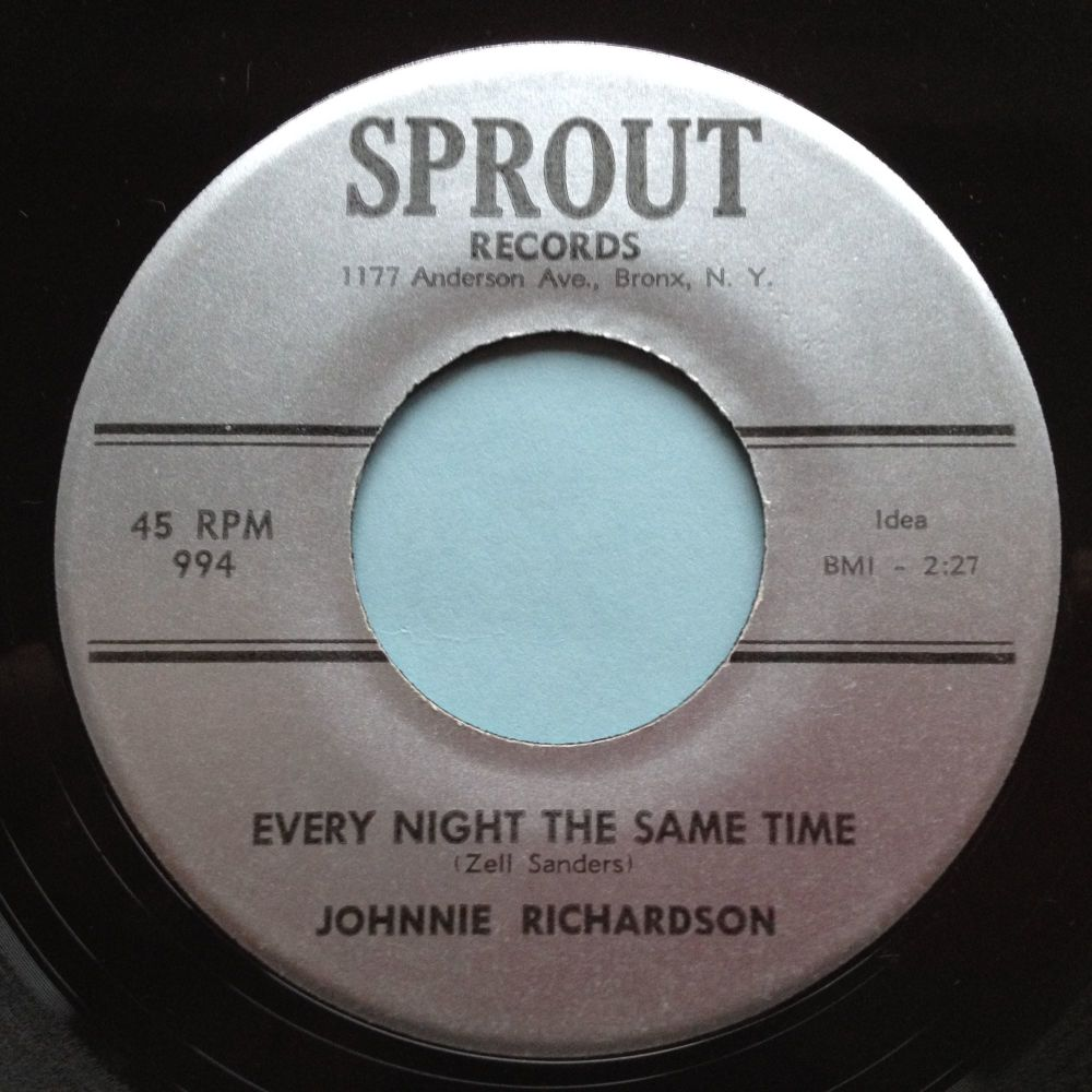 Johnnie Richardson - Every night the same time - Sprout - Ex