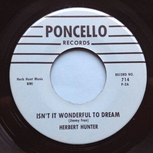 Herbert Hunter - Isn't it wonderful to dream - Poncello