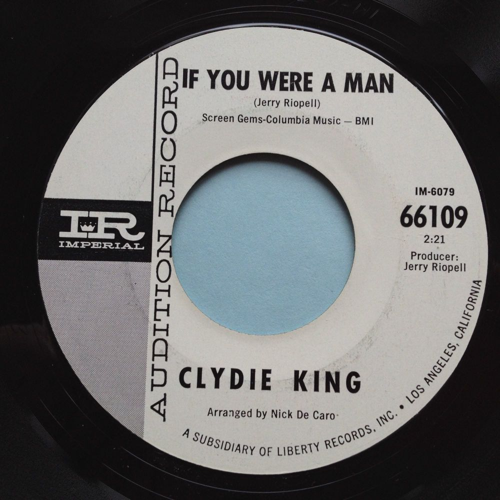 Clydie King - If you were a man / The thrill is gone - Imperial promo - Ex