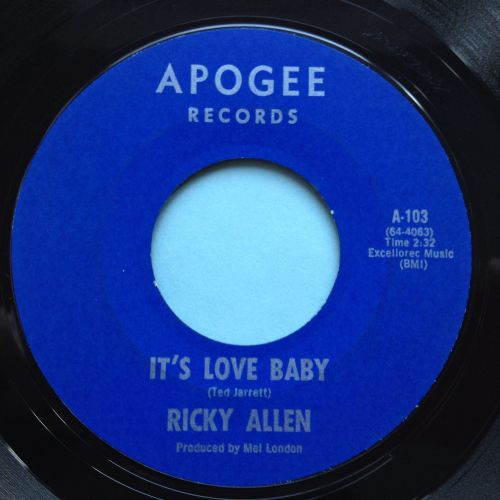 Ricky Allen - It's love baby - Apogee - Ex