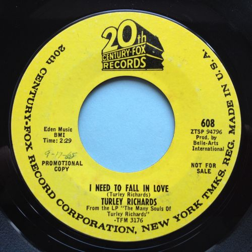Turley Richards - I need to fall in love - 20th Century promo - Ex