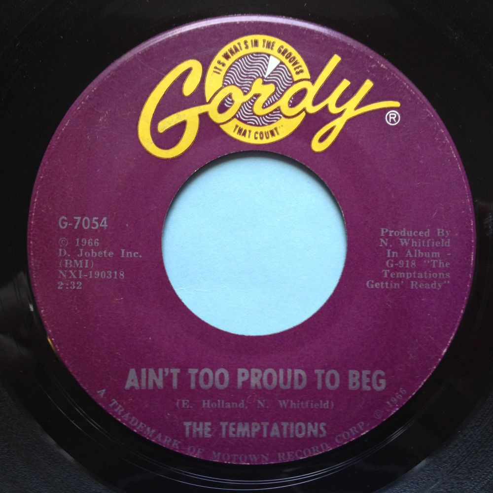 Temptations - Ain't too proud to beg - Gordy - Ex