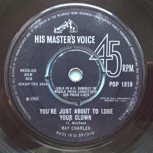 Ray Charles - You're just about to lose your clown - UK HMV - Ex