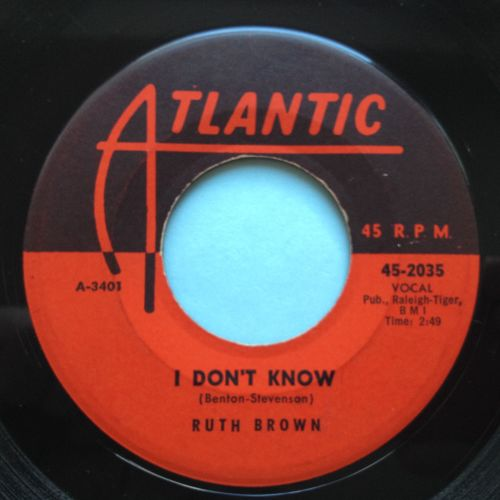 Ruth Brown - I don't know - Atlantic - Ex