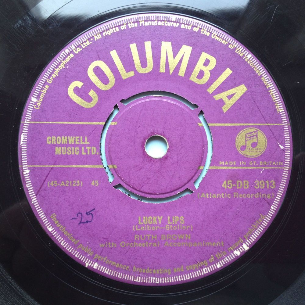Ruth Brown - Lucky Lips - UK Columbia - VG to VG+