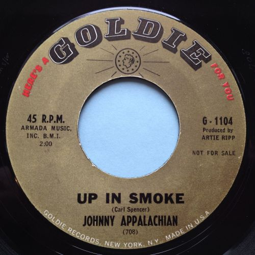 Johnny Appalachian - Up in smoke / Mountain of a man - Goldie - VG++