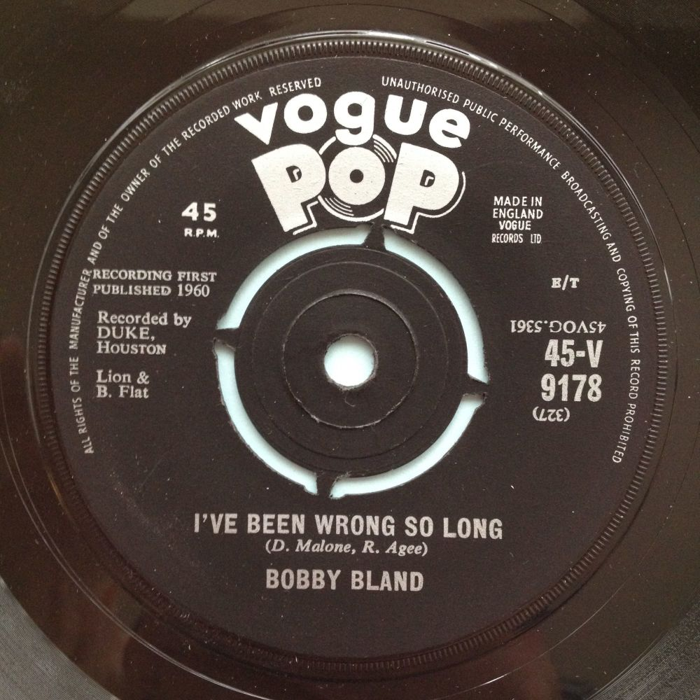 Bobby Bland - I've been wrong so long - UK Vogue Pop - Ex
