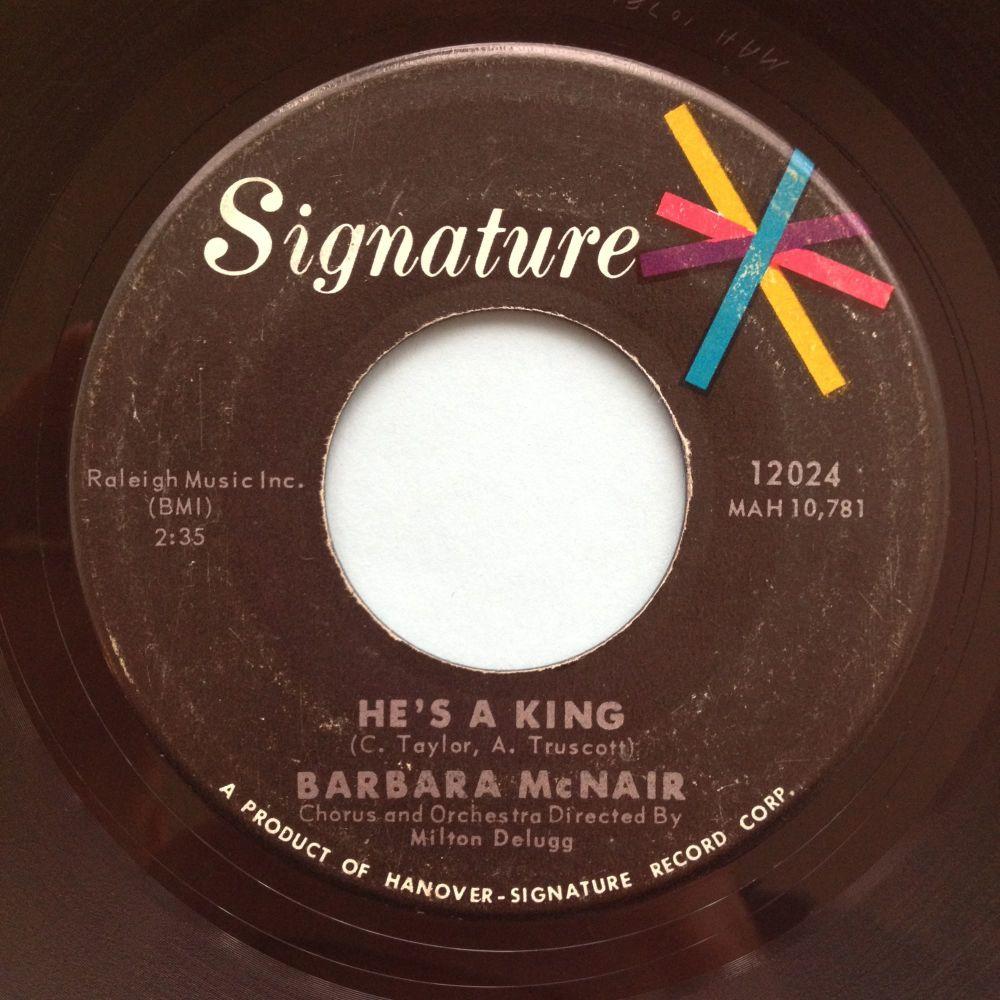 Barbara McNair - He's a king - Signature - Ex-