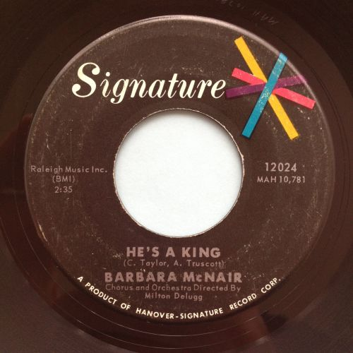 Barbara McNair - He's a king - Signature - Ex-