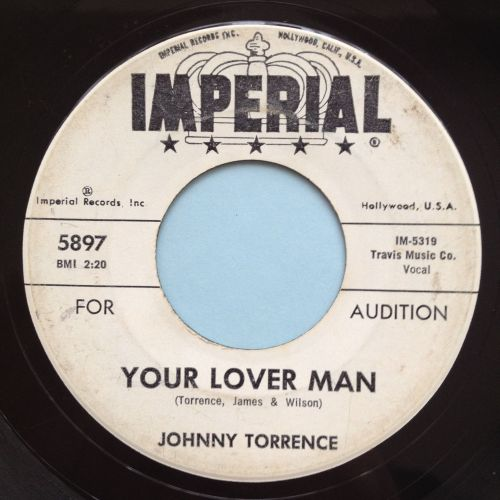 Johnny Torrence - Your lover man - Imperial promo - VG+