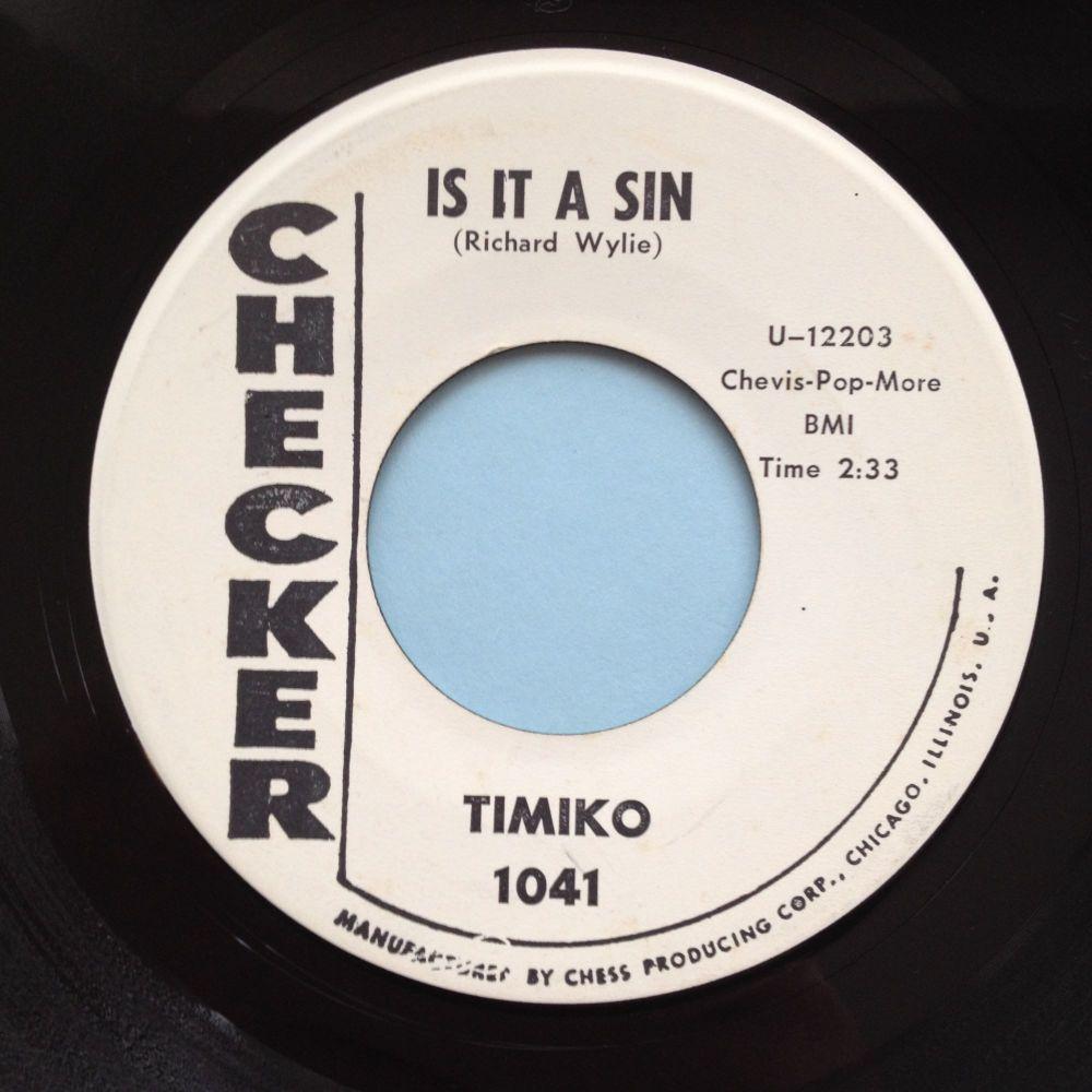 Timiko - Is it a sin - Checker promo - Ex