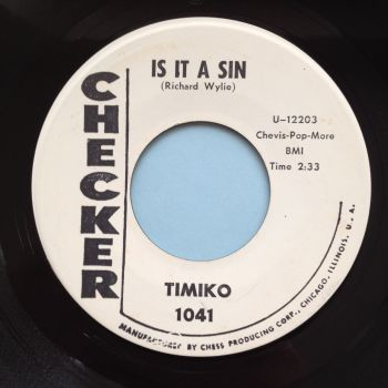 Timiko - Is it a sin - Checker promo - Ex