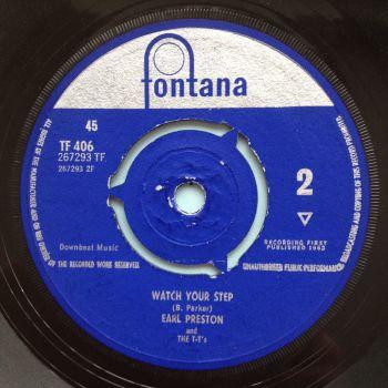 Earl Preston - Watch your step - UK Fontana - Ex-