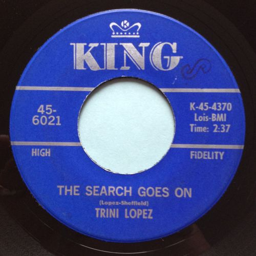 Trini Lopez - The search goes on - King - Ex-