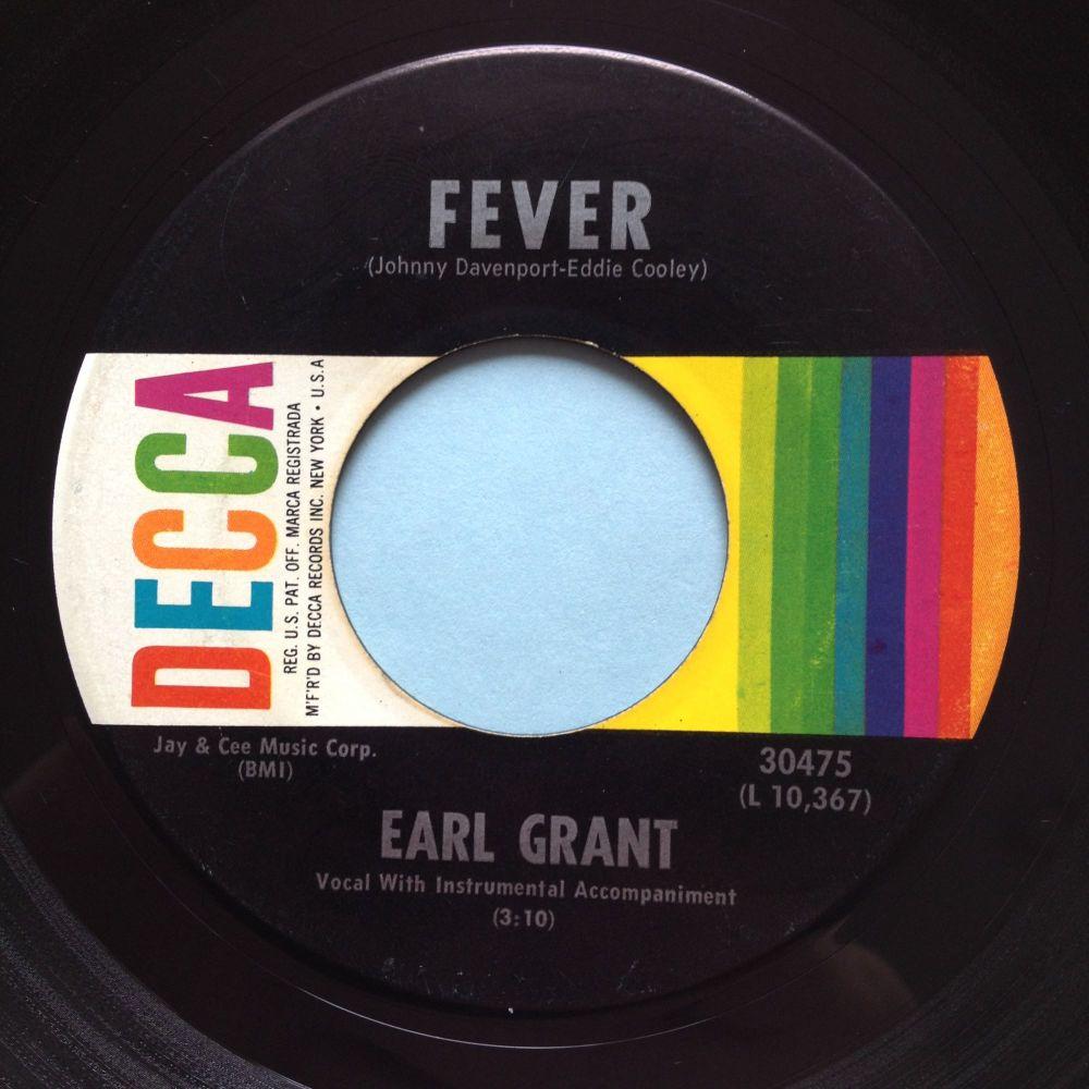 Earl Grant - Fever - Decca (rarer label design) - Ex