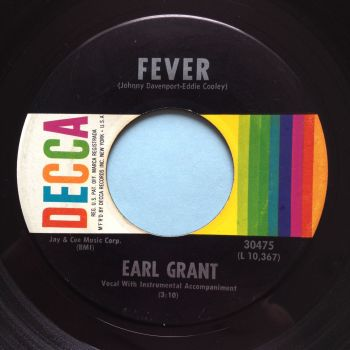 Earl Grant - Fever - Decca (rarer label design) - Ex-
