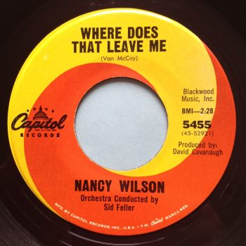Nancy Wilson - Where does that leave me - Capitol - Ex