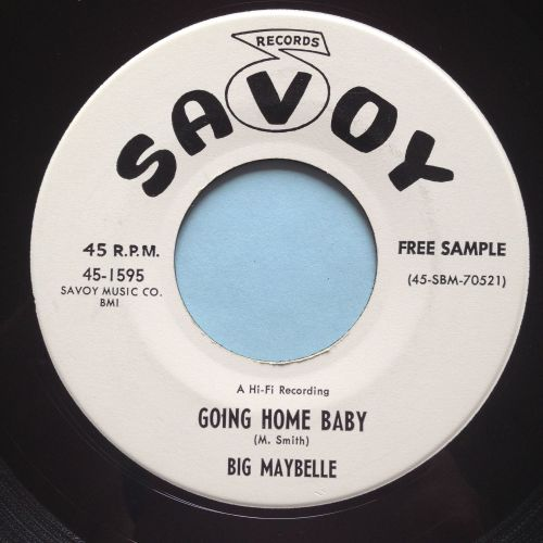 Big Maybelle - Going home baby - Savoy promo - Ex