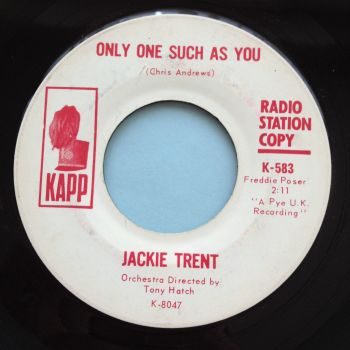Jackie Trent - Only one such as you - Kapp promo - Ex-