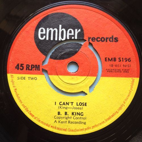 B B King - I can't lose - UK Ember - Ex