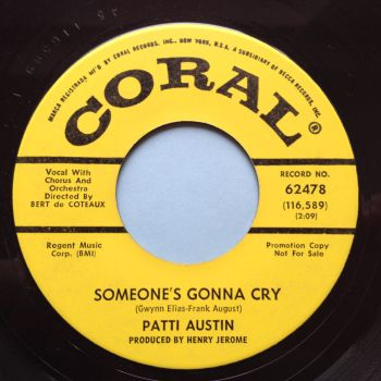 Patti Austin - Someone's gonna cry - Coral promo - M-