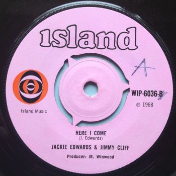Jackie Edwards & Jimmy Cliff - Here I come / Set me free - U.K. Island - Ex