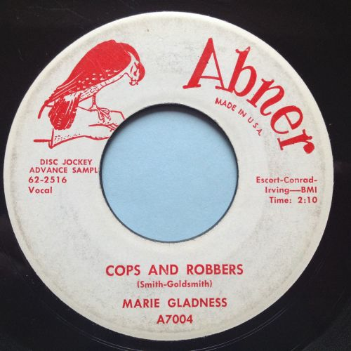 Marie Gladness - Cops and Robbers - Abner promo - VG+