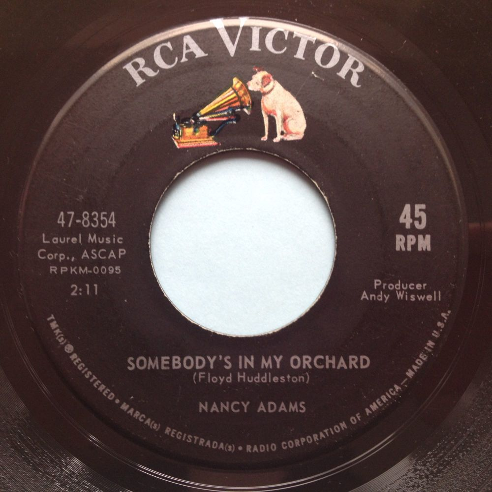 Nancy Adams - Somebody's in my orchard - RCA - Ex