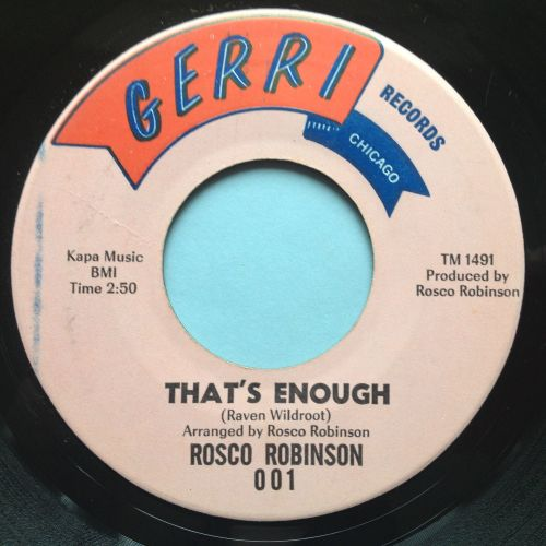 Rosco Robinson - That's enough - Gerri - Ex