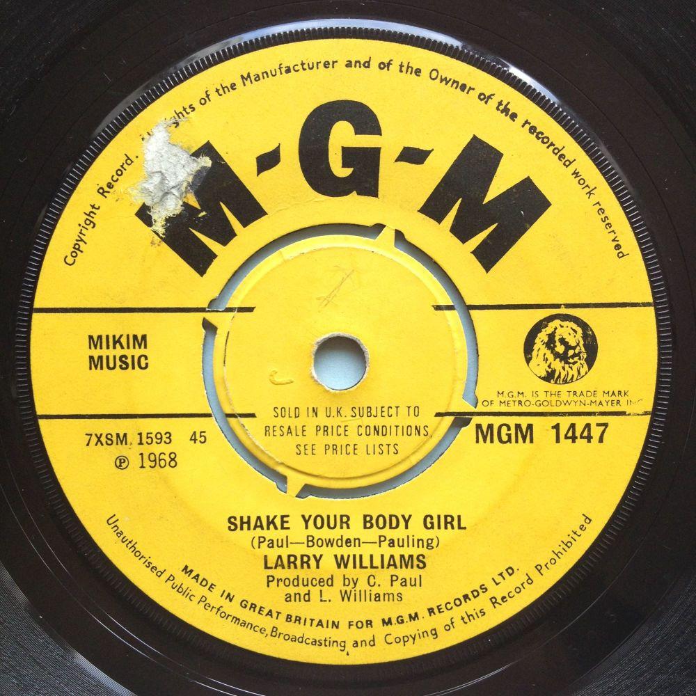 Larry Williams - Shake your body girl - UK MGM - Ex-