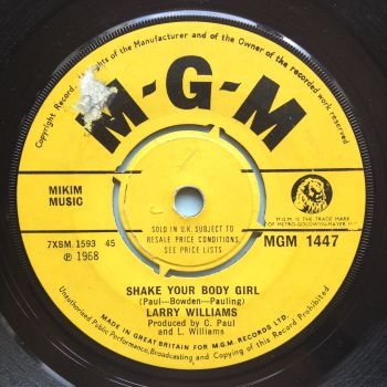 Larry Williams - Shake your body girl - UK MGM - Ex-
