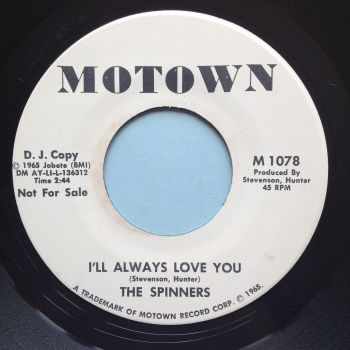 Spinners - I'll always love you - Motown promo - Ex