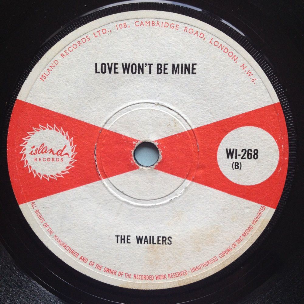Wailers - Love won't be mine - Island - VG+