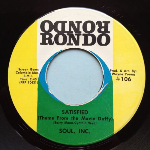 Soul Inc - Satisfied - Rondo - Ex