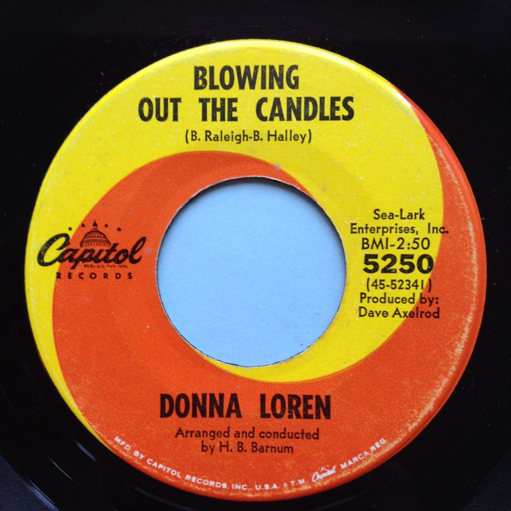 Donna Loren - Blowing out the candles - Capitol - Ex-