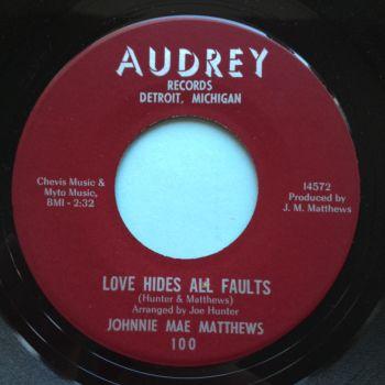 Johnnie Mae Mathews - Love hides all faults - Audrey - Ex