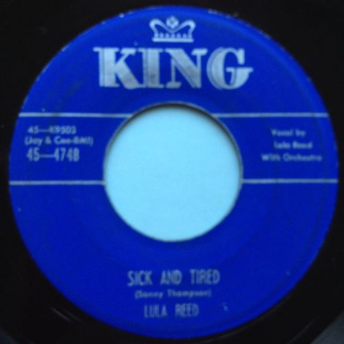 Lula Reed - Sick and tired - King - VG+
