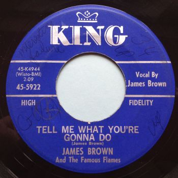 James Brown - Tell me what you're gonna do - King - Ex- (wol)